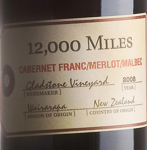 12,000 Miles Cab Franc Merlot Malbec