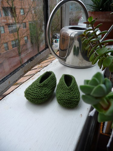 Green Baby Slippers