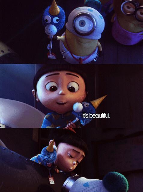 Agnes & Minion. (Despicable Me)