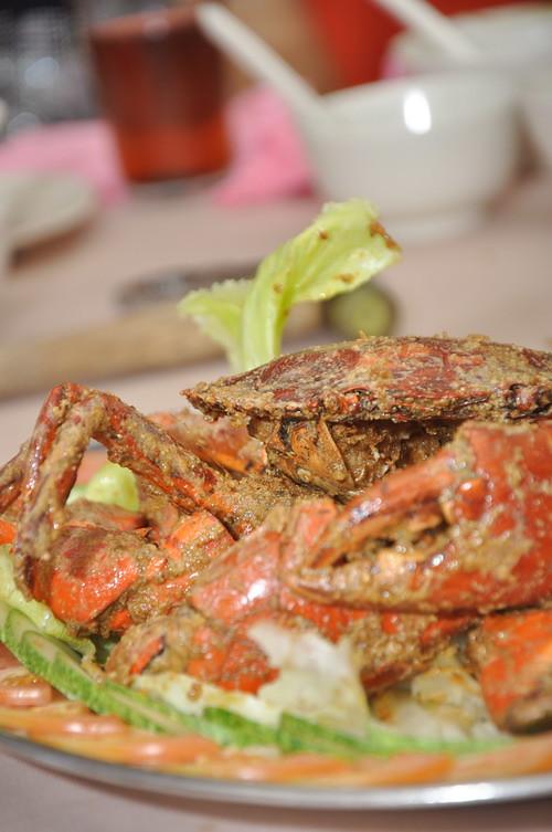 Wan Jia Restaurant Salted Egg Yolk Crab