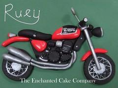 Ruey's Birthday Cake (The Enchanted Cake School) Tags: birthday red green cake motorbike triumph biker