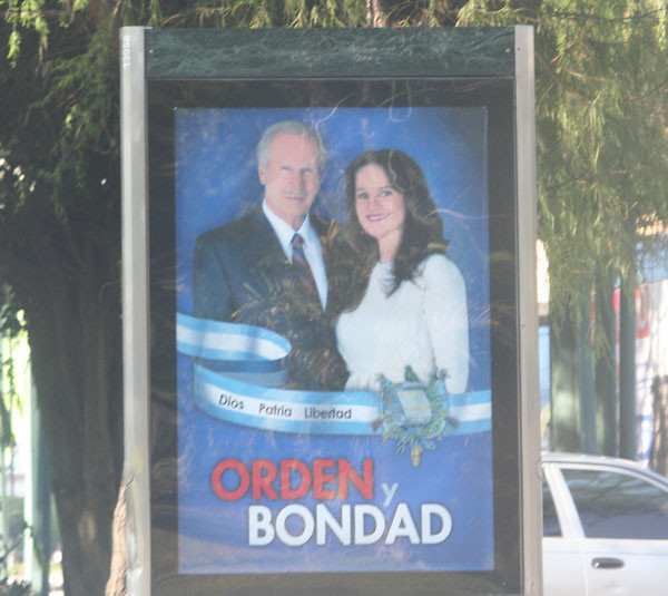 Guatemala election poster