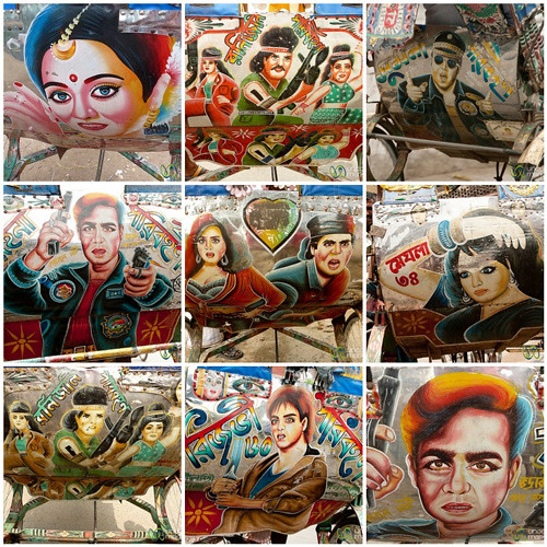 Bollywood Rickshaw Art