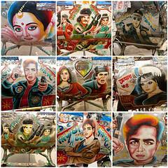Bollywood Rickshaw Art in Rajshahi, Bangladesh (uncorneredmarket) Tags: rickshaw bangladesh bicyclerickshaw rickshawart rajshahi