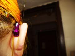 Looking Forward (phonak_frenzy) Tags: orange loss tattoo aids purple heart spice hard aid ear deaf hearing cassia solana phonak microp