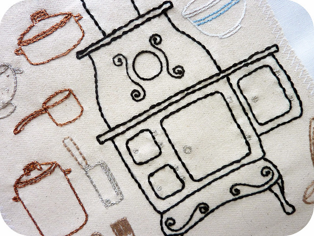 Farmhouse Kitchen Embroidery Pattern