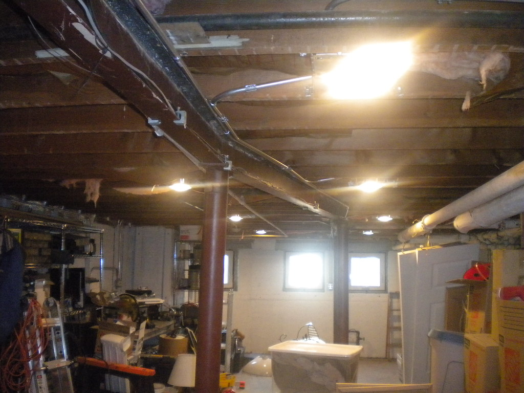 The Worlds Most Recently Posted Photos Of Conduit And Lights Wiring Basement Ceiling New Can Brokenbungalow Tags Light Electric Wire Pipe Wires Wired