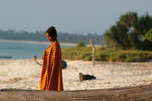 Calm beach life in Timor, Indonesia.
