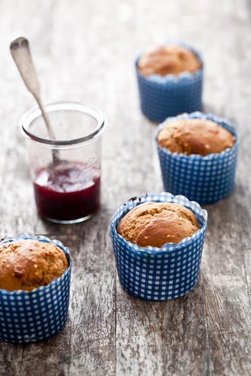Millet Muffins & Strawberry Jam