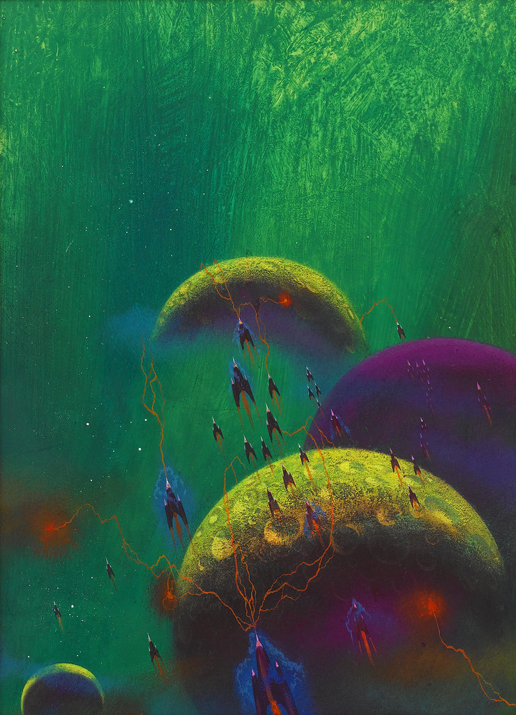 Paul Lehr - Science fiction book cover