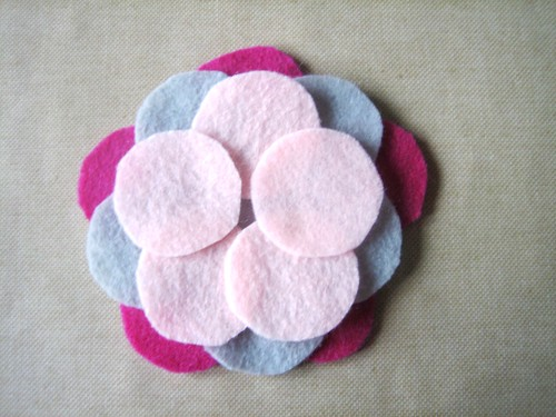 Felt Flower Brooch - Layer 3