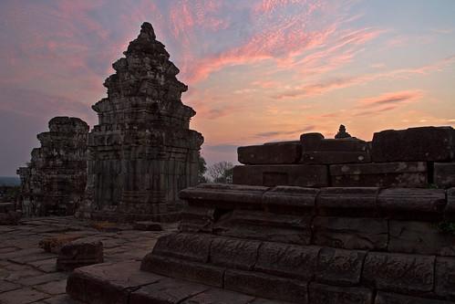 Sunrise at the Angkor ruins