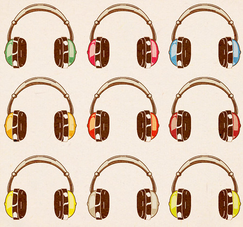 Twitter background headphones
