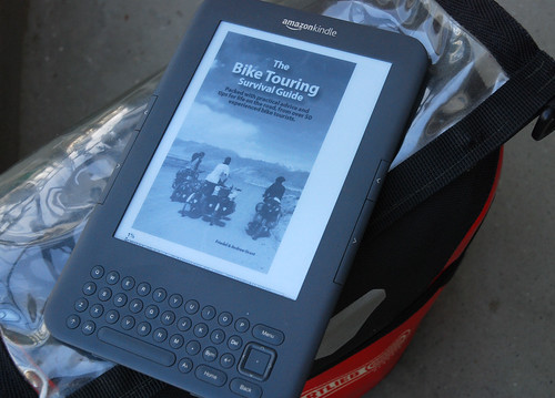 The Bike Touring Survival Guide on a Kindle