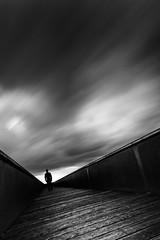 Watch the storm (96dpi) Tags: longexposure bw monochrome silhouette clouds dark mono pier wolken overpass sw volkspark potsdam dunkel compositing steg buga überführung gettygermanyq2