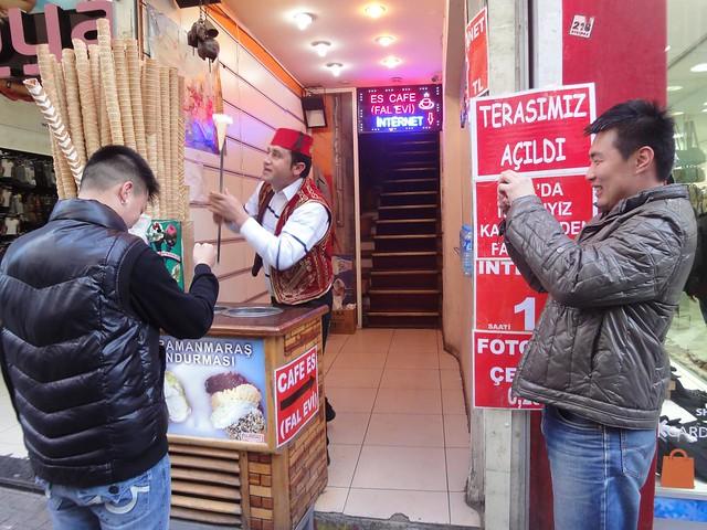 Vendedores de gelados Istambul