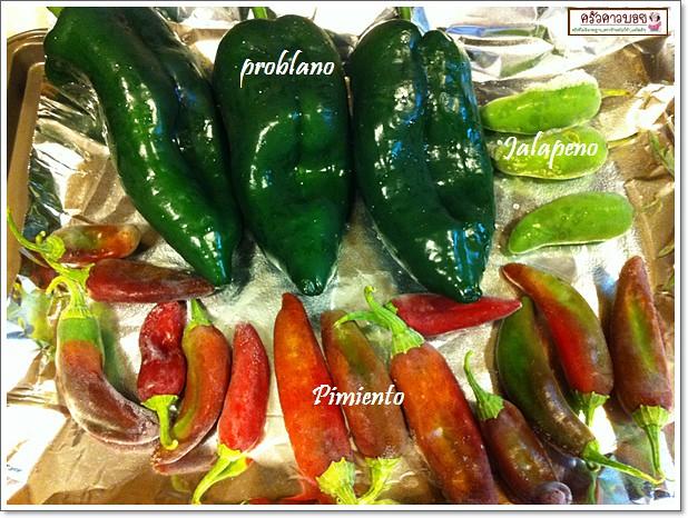 แจ่วแซ่บ กับพริก Prblano Peppers ทดลองพริก