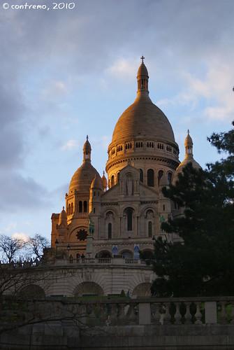 Solpor en Montmartre (París, Francia)