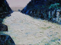 Wild Water (Harry Kent) Tags: landscape tasmania oilpainting launceston cataractgorge