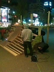 110410 撤収作業@若宮広場