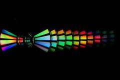 Music brings color to the world (aubrey_54) Tags: music black color circle rainbow colorful cd sony cds nex3