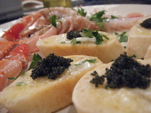 Lagoustines Caviar Crostini