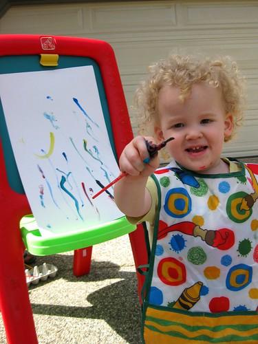 Izzy's painting