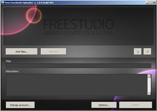 Free Facebook Uploader - Screenshot