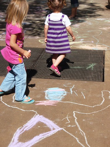kids with chalk