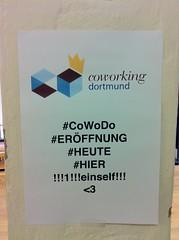 Coworking Dortmund: Eröffnungsplakat
