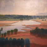 """<b>River Flood</b><br/> Maakestad (LC '80) (oil paint on linen, 2006) <a href=""""http://farm6.static.flickr.com/5230/5636101500_e43029a4ee_o.jpg"""" title=""""High res"""">∝</a>"""