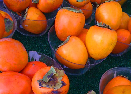 Hachiya persimmons at farmers markets in San Diego