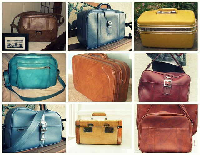 luggage collage