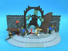 Mr Frankenhulk sets forth on an adventure (SlyOwl) Tags: iron lego lounge frankenstein builders builder