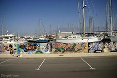 UN MAR DE GRAFFITIS (ngel mateo) Tags: espaa puerto cuerda graffiti andaluca spain barcos aparcamiento cielo varadero almera almerimar nudo veleros elejido amarre mstil ngelmartnmateo ngelmateo