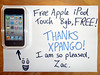 Free Apple iPod Touch - Zack Alison - UK