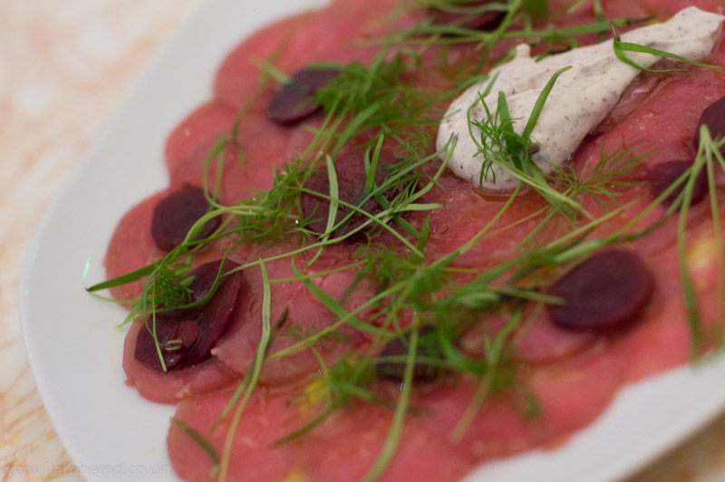 NOPI- Rose Veal Carpaccio