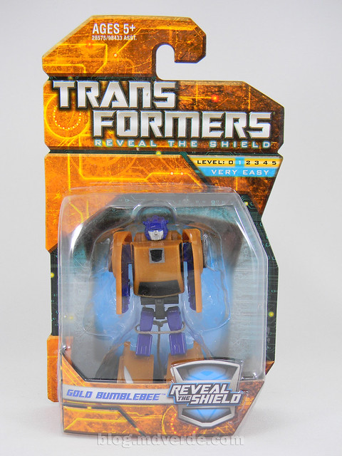 Transformers Gold Bumblebee Reveal the Shield Legends - caja