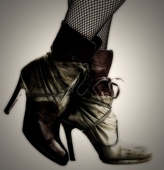 Killer boots. (murphys) Tags: blood boots fishnets