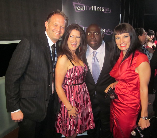 LA Comedy Shorts Founders, Ryan Higman, Jeannie Roshar, Gary Anthony Williams, Host Camille Solari