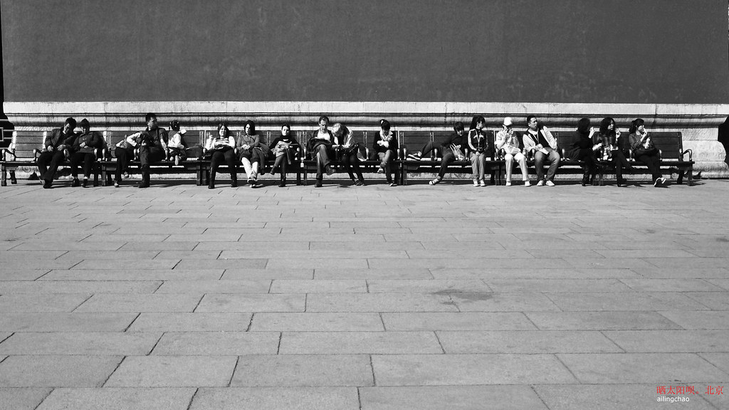 排排坐,曬太陽