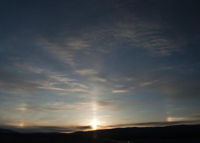Sunset in Goldstream Valley
