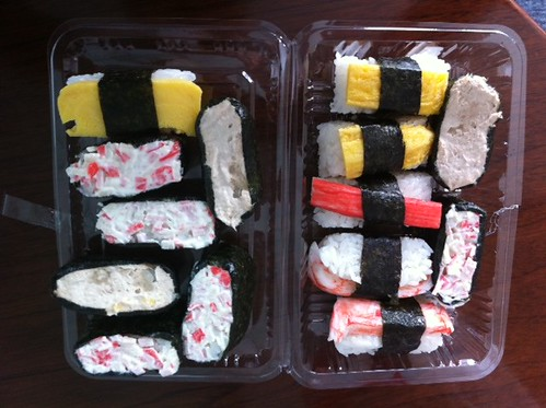 Today's sushi lunchbox (price: about EUR 5)