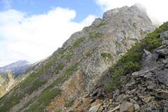 西穂-岳沢の岩場