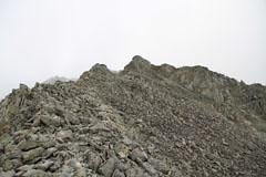 穂高岳山荘-奥穂高岳の稜線