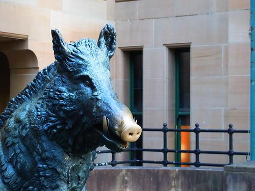 Boar statue 1of2
