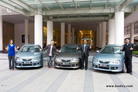(L-R) Dj Lin, Jack Lim, Sidik Abdul Hamid, Gm, Marketing Division, Proton Edar Sdn Bhd, Aanantha