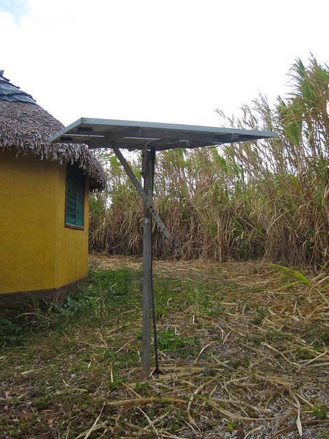 solar panel in a eco hotel from nicaragua
