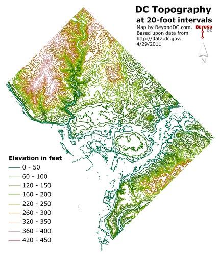Topographic Map Washington Dc.Beyonddc Dc Topography Map