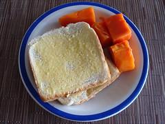 Papaya and Toast (knightbefore_99) Tags: food art fruit bread mexico hotel toast papaya mexican oaxaca tropical bimbo pan huatulco lasbrisas